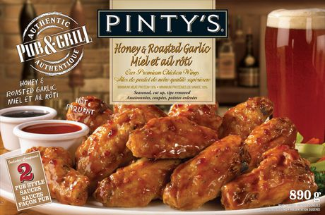 Pinty's Pub & Grill Pinty's Pub And Grill Honey And Roasted Garlic Chicken Wings