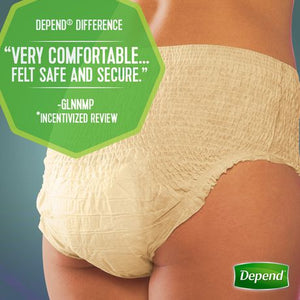 Depend Fit-Flex Incontinence Underwear for Women, Moderate Absorbency Underwear