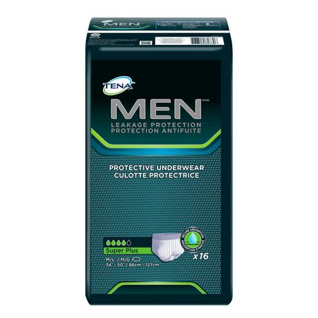 TENA Incontinence Underwear for MEN, Protective, Medium/Large, 16 Count