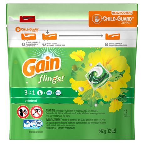 Gain Flings Laundry Detergent Pacs, Original Scent