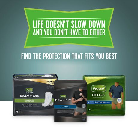 Depend Incontinence Shields for Men, Light Absorbency