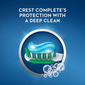 Crest Complete Whitening + Deep Clean Effervescent Mint Toothpaste