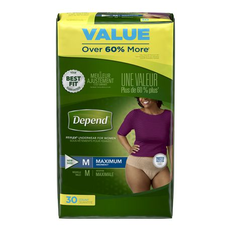 Depend Fit-Flex Incontinence Underwear for Women, Maximum Absorbency