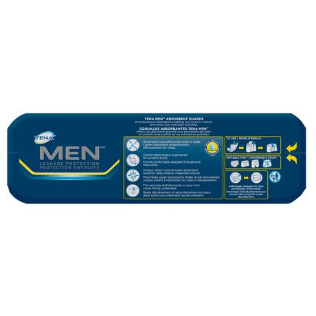 TENA Incontinence Guards for MEN, Moderate Absorbency, 48 Count