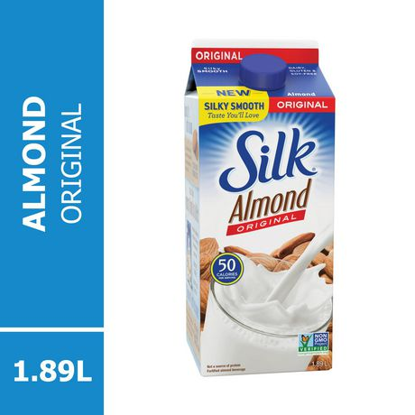 SILK Almond Beverage, Original, Dairy-Free, 1.89L