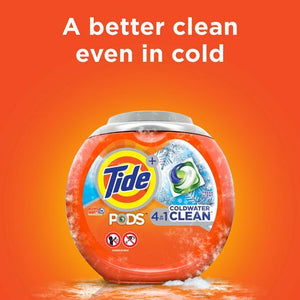 Tide PODS Coldwater Clean Liquid Laundry Detergent Pacs, Fresh Scent