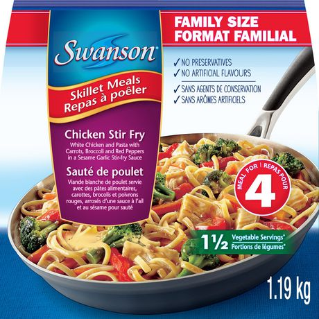 Swanson Chicken Stir Fry Skillet Frozen Meals