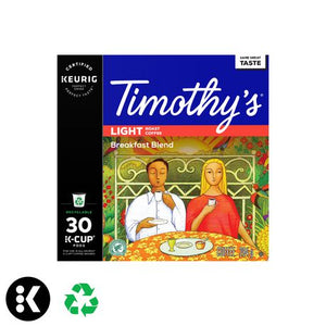 Keurig® Timothy's® Breakfast Blend Coffee Light Roast Recyclable K-Cup® PODS