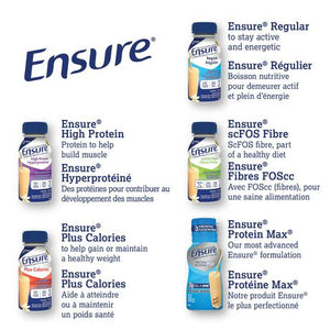 Ensure® Plus Calories, Complete Balanced Nutrition, Strawberry, 6 x 235 mL