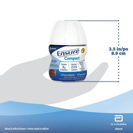 Ensure® Compact, Complete Balanced Nutrition, Chocolate, 4 x 118 mL