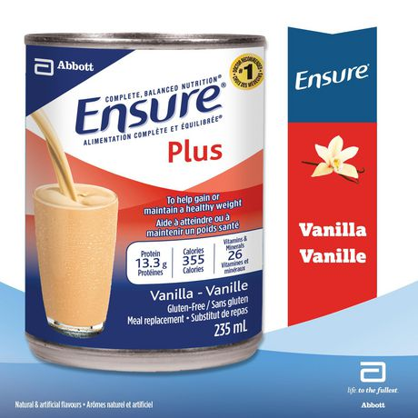 Ensure® Plus, Complete Balanced Nutrition, Vanilla, 12 x 235 mL Can