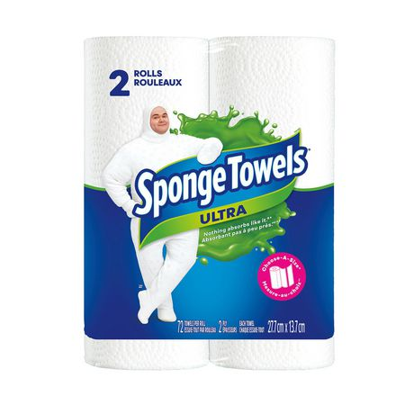 Sponge Towels® Ultra Choose-A-Size 2's 2 Ply Paper Towel