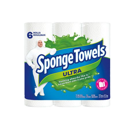 SpongeTowels Ultra Choose-A-Size 6's 2Ply Paper Towel