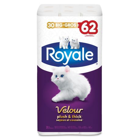 Royale Velour Plush and Thick Toilet Paper