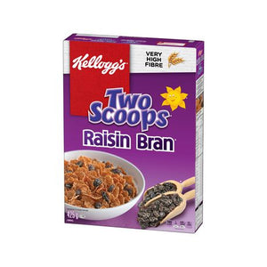 Kellogg's Two Scoops Raisin Bran Cereal 425g