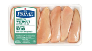 Maple Leaf Prime Raised without Antibiotics Boneless Skinless Fillets Removed Chicken Breast