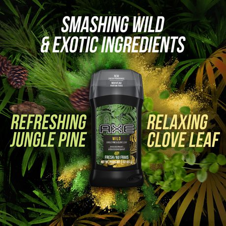 AXE Wild Deodorant Stick for 48h protection Jungle Pine & Clove Leaf antibacterial odour protection 85 g