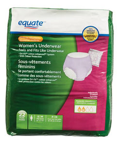 Equate Moderate Absorbency Women's Underwear