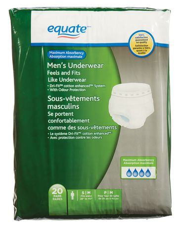 Equate Maximum Absorbency Men's Underwear