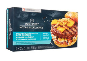 Our Finest Raised without Antibiotics Beef Burgers