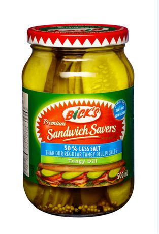 Bick's 50% Less Salt Sandwich Savers Pickles