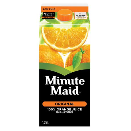 Minute Maid® 100% Orange Juice From Concentrate 1.75L carton