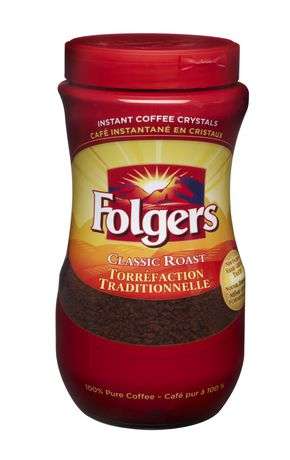 Folgers Classic Roast Instant Coffee Crystals 340g