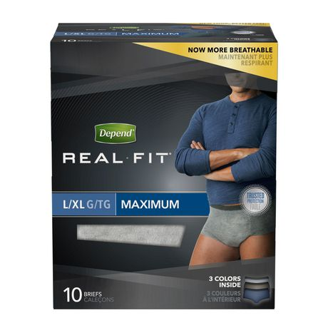 Depend Real Fit Incontinence Underwear for Men, Maximum Absorbency