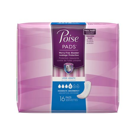 Poise Pads Moderate Absorbency