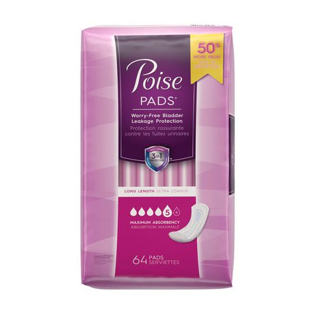 Poise® Maximum Absorbency Pads Long Value Pack