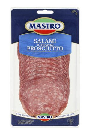 Mastro Gluten Free Sliced Salami with Prosciutto