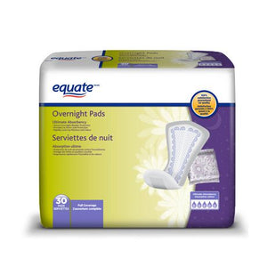 Equate Full Coverage Overnight Pads