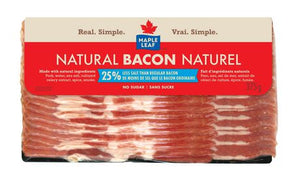 Maple Leaf Naturally Smoked Reduced Salt Bacon
