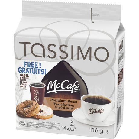 Tassimo McCafé Premium Roast Coffee Single Serve T-Discs