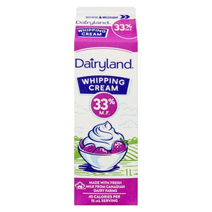 Dairyland 33% Whipping Cream