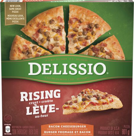 Delissio Rising Crust Bacon Cheeseburger Pizza