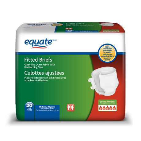 Equate Maximum Absorbency Fitted Briefs