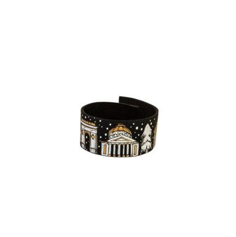 Winter in Bucharest Leather Bracelet