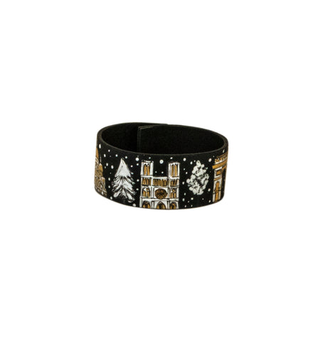 Winter in Paris Leather Bracelet
