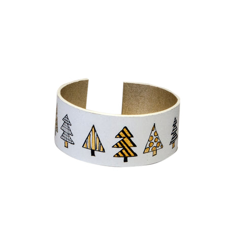 Golden Trees Leather Bracelet