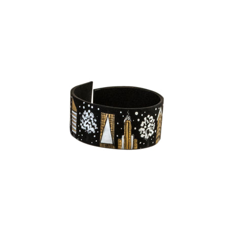 Winter in New York  Leather Bracelet