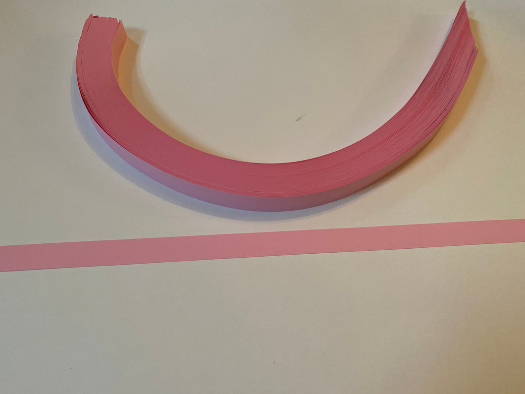 200 pink light paper strips