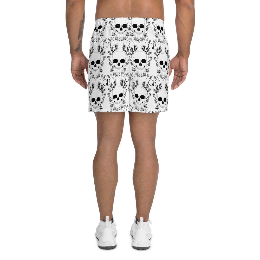 Skull Men's Athletic Long Shorts
