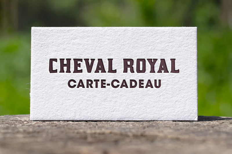 Carte-cadeau de Cheval Royal