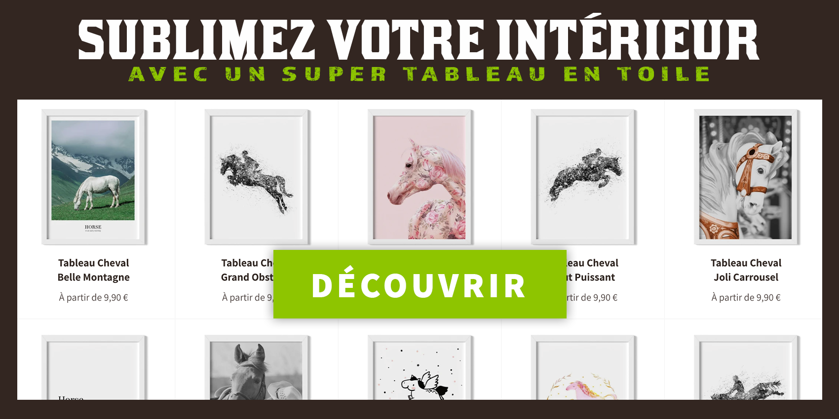 Nos tableaux cheval