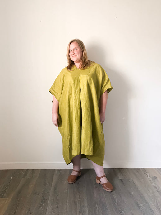 Baba Dress in Split Pea