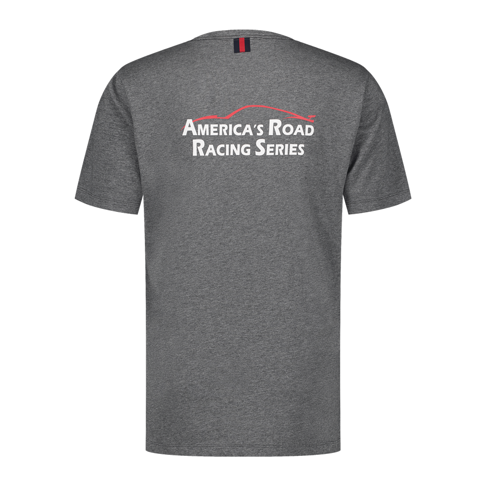 America's Road Race Heather Grey T-Shirt - With Nanocoating Technology