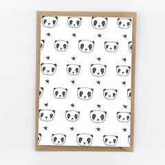Studio Flash / Letterpress Postkaart / Panda