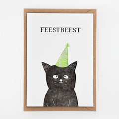 Studio Flash / Letterpress Postkaart / Feestbeest