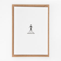 Studio Flash / Letterpress Postkaart / Tiny Human